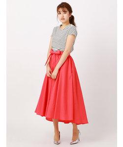 ◆【ハンドウォッシュ】ライトタンブラー サッシュベルト付きフィッシュテールギャザースカート◆