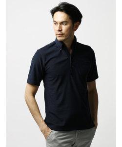 【ETONNE】コンパクトパイル ワンピースカラーボタンダウンポロシャツ