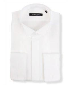 FORMAL/BASIC/ダブルカフス&ウイングカラードレスシャツ 無地