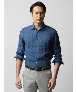 【ETONNE】ベルギーリネン ホリゾンタルカラーシャツ