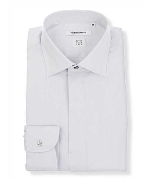 FIT/SUPER EASY CARE/ワイドカラードレスシャツ 無地