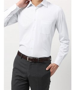 <ノンアイロンジャージー素材>【WE SUIT YOU】ワイドカラードレスシャツ ストライプ