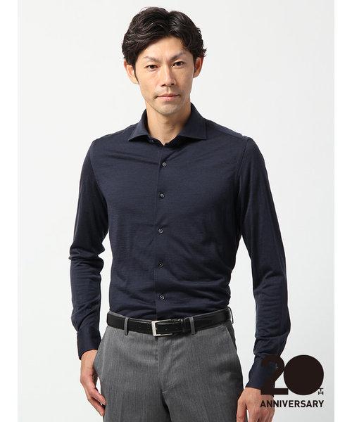 20周年記念アイテム/<ウールジャージー素材>【WE SUIT YOU】ワイドカラードレスシャツ