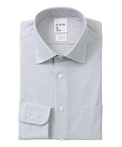 <ノンアイロンジャージー素材>【WE SUIT YOU】ワイドカラードレスシャツ チェック