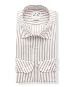 20周年記念アイテム/Fabric by ITALY/ワイドカラードレスシャツ ストライプ