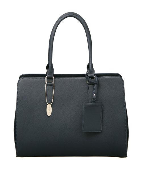◆パスケース付き サフィアーノ型押しトートバッグ◆