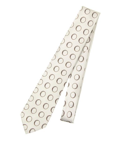 【セッテピエゲ】小紋×織柄ネクタイ