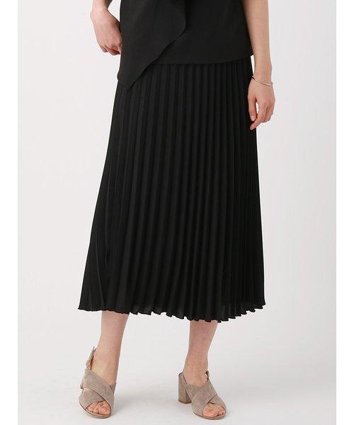【ウォッシャブル】ボイル プリーツスカート