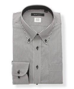 【SUPER EASY CARE】ボタンダウンカラードレスシャツ ストライプ 〔EC・BASIC〕