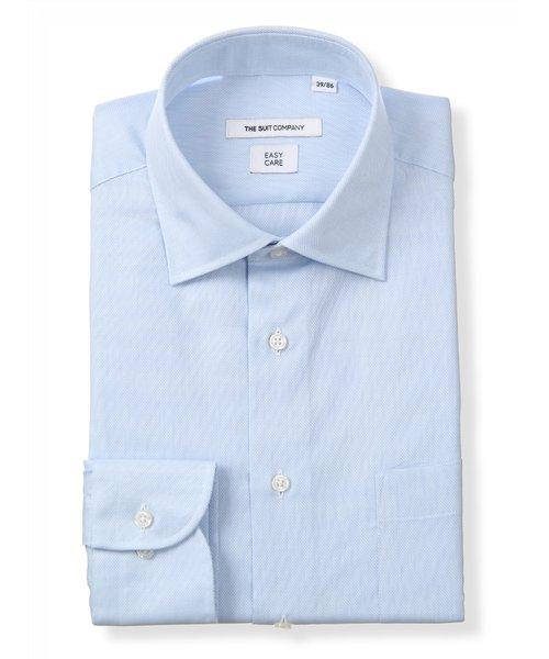 ワイドカラードレスシャツ 織柄 〔EC・FIT〕