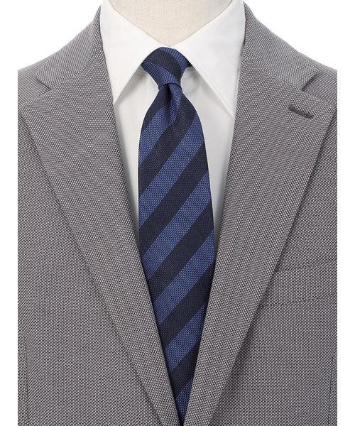 【Daniel】リネンシルク ストライプ×織柄ネクタイ