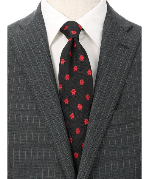 【blazer's bank.com】●JAPAN MADE●モンキー柄ネクタイ