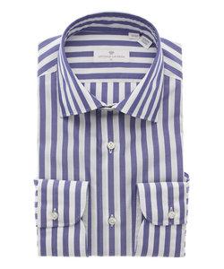 ◆ANTONIO LAVERDA◆ワイドカラードレスシャツ ストライプ 〔Easy Care〕