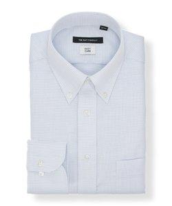 【再生繊維】ボタンダウンカラードレスシャツ 織柄 〔EC・BASIC〕