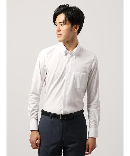 WE SUIT YOU/ノンアイロンジャージー素材/ボタンダウンカラードレスシャツ