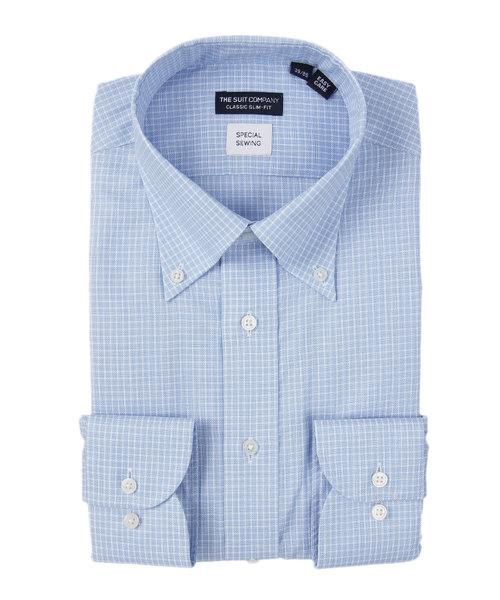 【ICE COTTON】ボタンダウンカラードレスシャツ 〔EC・CLASSIC SLIM-FIT〕