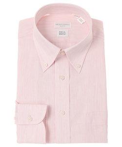 【Special sewing】ボタンダウンカラードレスシャツ 織柄 〔EC・SLIM FIT〕