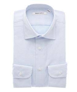 FIT/オーガニックコットン/ワイドカラードレスシャツ 織柄