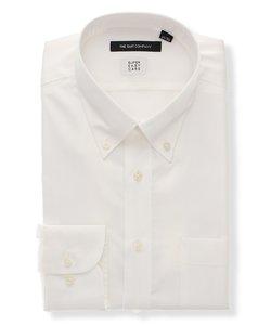 BASIC/SUPER EASY CARE/ボタンダウンカラードレスシャツ 織柄