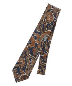 ウールシルク ペイズリー柄ネクタイ