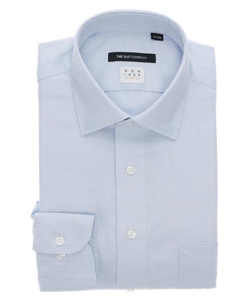 BASIC/NON IRON STRETCH/ワイドカラードレスシャツ 織柄