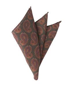 Daniel/ペイズリー&グレンチェックプリント ウールポケットチーフ