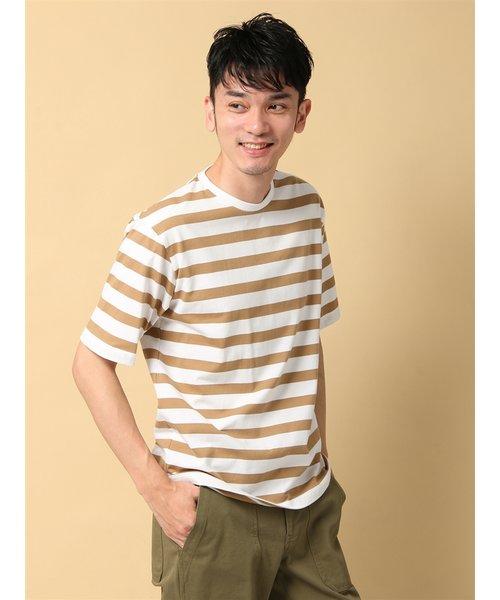 COMMUTECH CLASSIC/ウォッシャブル/オーガニックコットン ワイドボーダー半袖Tシャツ