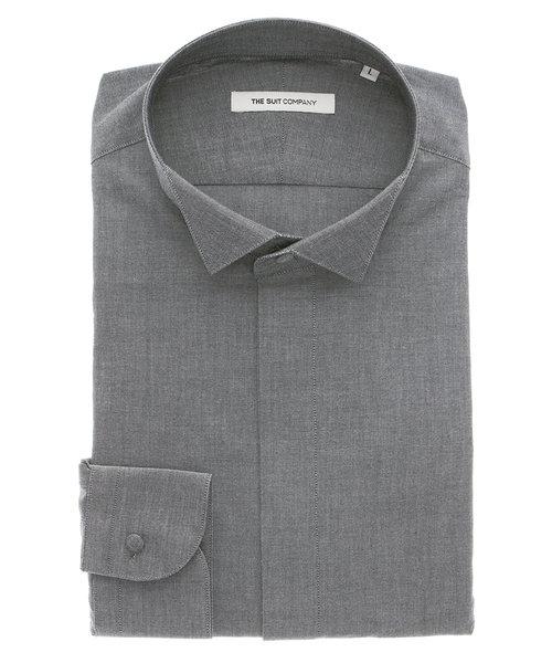 FORMAL/FIT/ウイングカラードレスシャツ 織柄