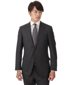 【プレミアム】【イタリア製生地使用】【Super160''s】【総毛芯】スタイリッシュスーツ