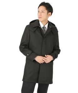 【合繊】【フード付】【ステンカラー】スタイリッシュコート