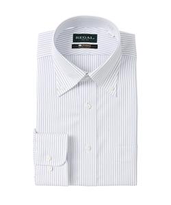 【長袖】【綿100%】【NON IRONMAX】【ボタンダウン】スタンダードワイシャツ
