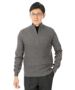 【ウォッシャブル】【12G】ハーフジップセーター