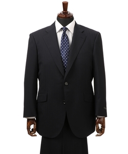 【ストレッチ】【形状記憶プリーツ】【ツーパンツ】スタイリッシュスーツ(キング&トール)
