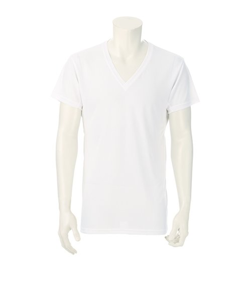 【ICE TOUCH】【半袖】Vネックシャツ
