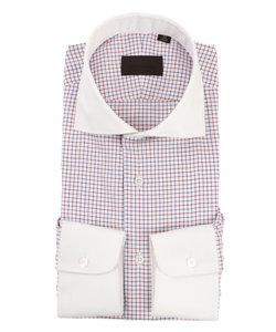 クレリック&ホリゾンタルカラードレスシャツ チェック
