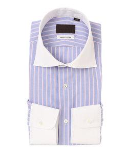 クレリック&ホリゾンタルカラードレスシャツ ストライプ