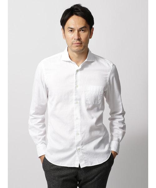【ETONNE】製品洗い ホリゾンタルカラーシャツ≪Fabric by THOMAS MASON≫