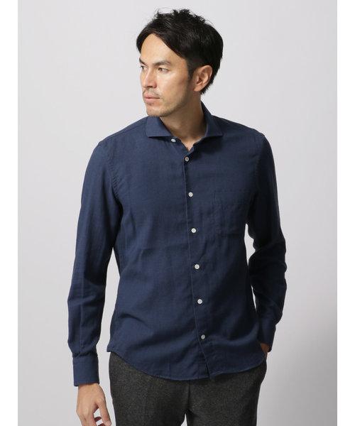 カシミヤブレンドホリゾンタルカラーシャツ≪Fabric by THOMAS MASON≫