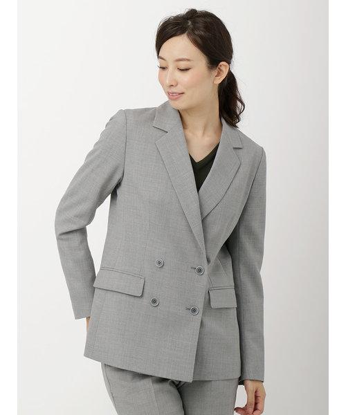 【la SPLENDINA】ウールトロピカルストレッチ ダブルブレストジャケット