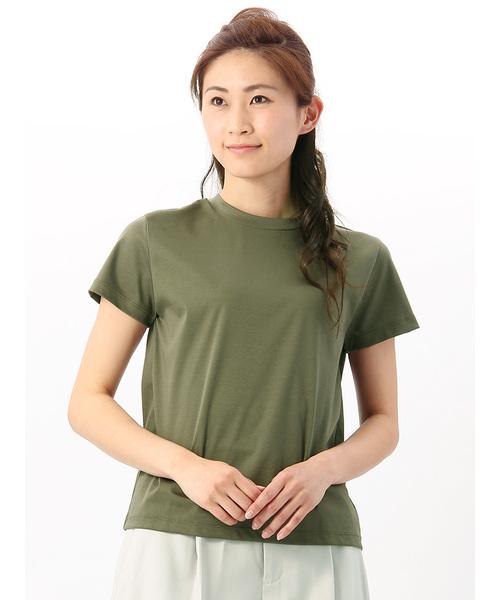 【ハンドウォッシュ】スイスコットン クルーネック半袖Tシャツ
