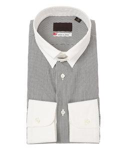 【JAPAN MADE SHIRTS】クレリック&タブカラードレスシャツ ストライプ