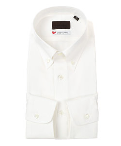 【JAPAN MADE SHIRTS】ボタンダウンカラードレスシャツ 無地