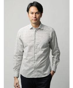 ≪JAPAN FABRIC≫【ETONNE】製品洗い ファンシードットプリントラウンドカラーシャツ