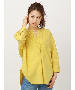 【la SPLENDINA】コットンタイプライターバイオ クルーネックスキッパーカラーシャツ