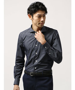 【VERTICAL】●FABRIC MADE IN JAPAN●織柄ジャージーシャツ