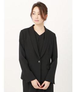 【ウォッシャブル】ポリエステルツイル ショールカラージャケット