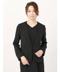 【ウォッシャブル】ポリエステルツイル Vカラージャケット