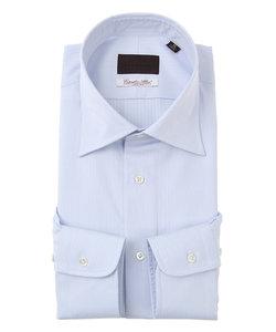ワイドカラードレスシャツ ストライプ×織柄≪Fabric by Albini≫