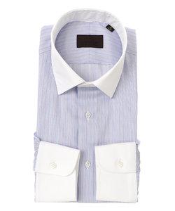 クレリック&ワイドカラードレスシャツ ストライプ