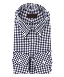 【COOL MAX】ボタンダウンカラードレスシャツ ギンガムチェック